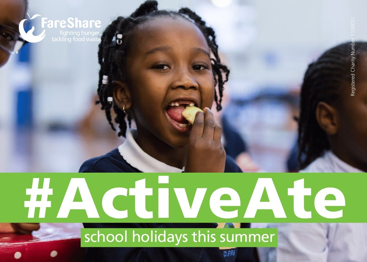 Girl eating promo shot for ActiveAte campaign