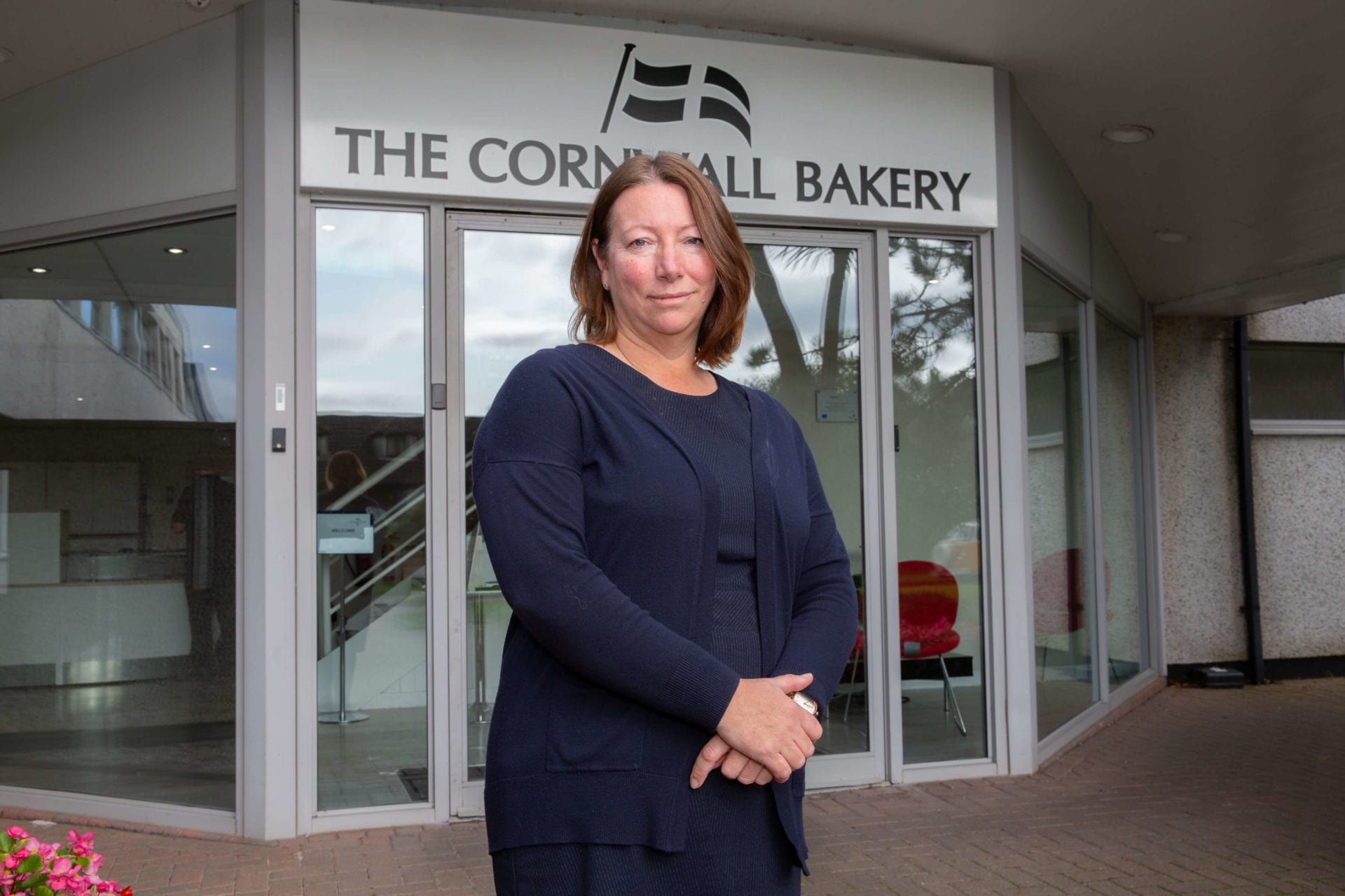 Alison Jeffery Outside The Cornwall Bakery