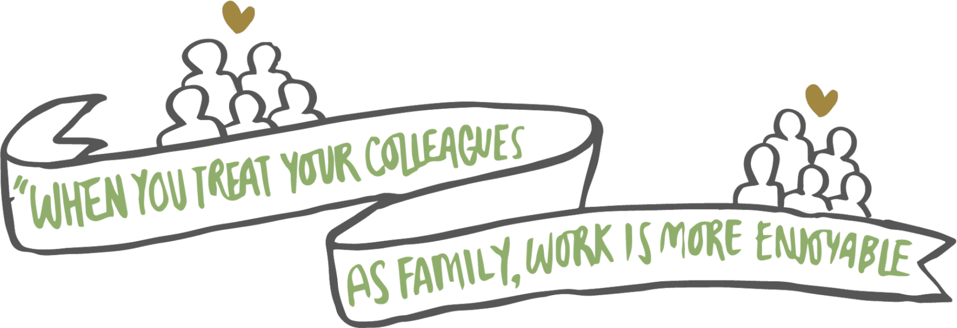 When you treat your colleagues as family, work is more enjoyable